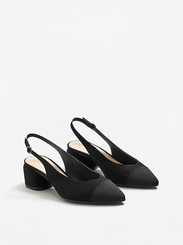 MANGO Women Black Solid Pumps at myntra