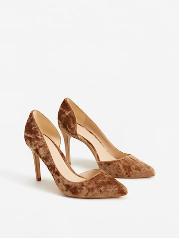 MANGO Women Brown Solid Pumps at myntra