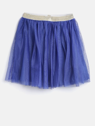 612 league Girls Blue Net Flared Skirt at myntra