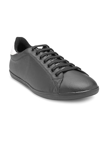 Franco Leone Men Black Sneakers Franco Leone Casual Shoes at myntra