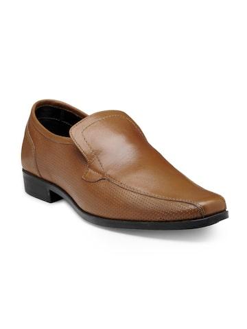 Franco Leone Men Brown Leather Semiformal Slip-Ons Franco Leone Formal Shoes at myntra