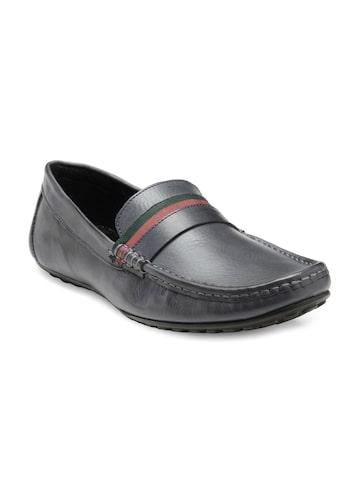 Franco Leone Men Navy Leather Semiformal Slip-Ons Franco Leone Formal Shoes at myntra
