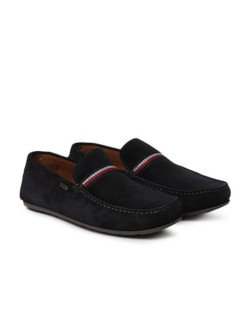 Tommy Hilfiger Men Black Suede Loafers Tommy Hilfiger Casual Shoes at myntra