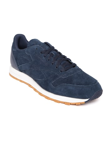 Reebok Classic Men Navy CL Leather SG Sneakers at myntra