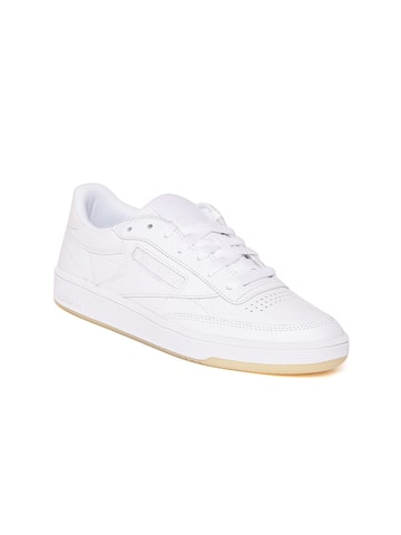 Reebok Classic Women Off-White Club C 85 Leather Sneakers Reebok Classic Casual Shoes at myntra