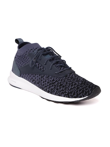 Reebok Classic Men Navy & Black ZOKU Runner ULTK Fade Patterned Sneakers Reebok Classic Casual Shoes at myntra