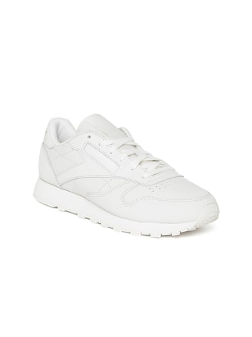 Reebok Classic Women Off-White CL Leather FBT Suede Sneakers Reebok Classic Casual Shoes at myntra