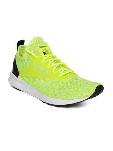 Reebok Classic Men Fluorescent Green Running Shoes Reebok Classic Sports Shoes at myntra