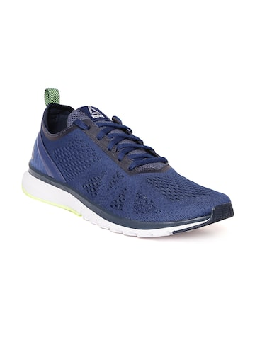 Reebok Men Blue Print Smooth Clip Ultraknit Running Shoes Reebok Sports Shoes at myntra