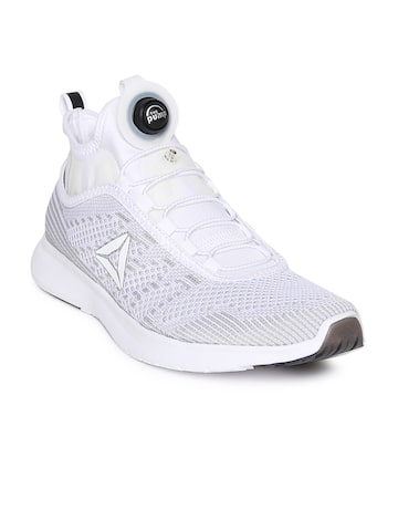Reebok Men Grey & White PUMP PLUS ULTK Running Shoes Reebok Sports Shoes at myntra