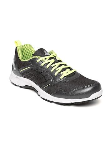 Reebok Men Charcoal Grey Road Rush Running Shoes Reebok Sports Shoes at myntra