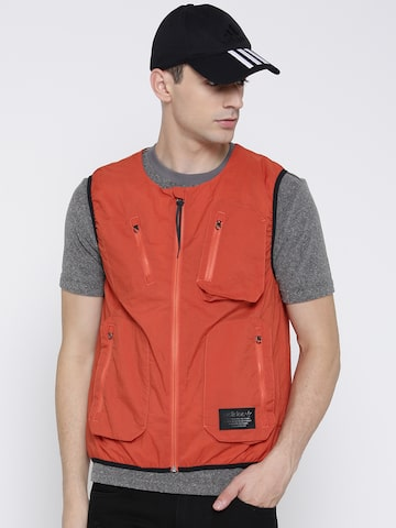 Adidas Originals Men Orange NMD UT VEST Padded Jacket at myntra