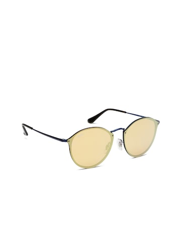 Ray-Ban Unisex Round Mirrored Sunglasses 0RB3574N90387J59 Ray-Ban Sunglasses at myntra
