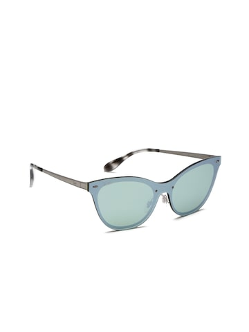 Ray-Ban Women Cateye Sunglasses 0RB3580N042/3043-042/30 Ray-Ban Sunglasses at myntra