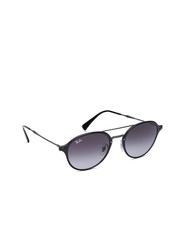 Ray-Ban Unisex Round Sunglasses 0RB4287601/8G55 Ray-Ban Sunglasses at myntra