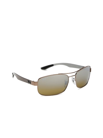 Ray-Ban Men Rectangle Sunglasses 0RB8318CH121/A262 Ray-Ban Sunglasses at myntra