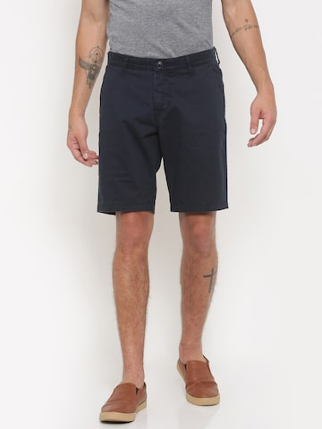 Being Human Clothing Men Navy Solid Regular Fit Chino Shorts at myntra