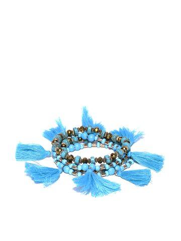 Blueberry Set of 4 Blue Elasticated Bracelets Blueberry Bracelet at myntra