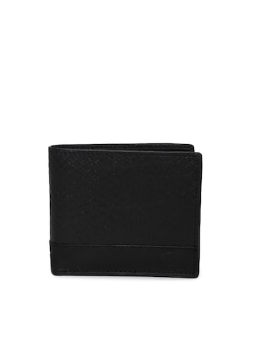 INVICTUS Men Black Textured Two Fold Wallet INVICTUS Wallets at myntra