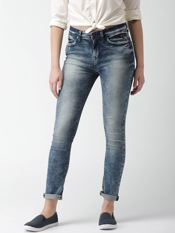 Harvard Women Blue Skinny Fit Mid-Rise Clean Look Stretchable Jeans at myntra