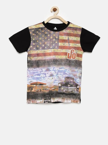 UFO Boys Multicoloured Printed Round Neck T-shirt at myntra