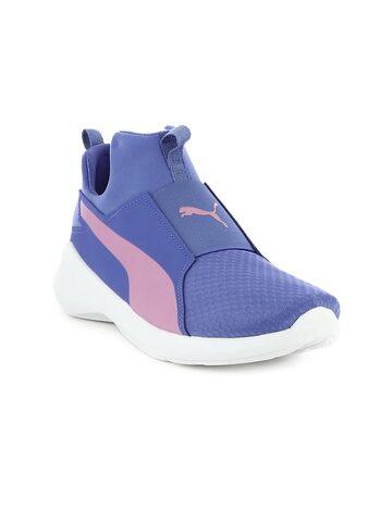 Puma Women Purple Rebel Mid Wns Mid-Top Sneakers at myntra