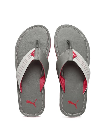 Puma Men Grey Blink Duo Flip-Flops at myntra
