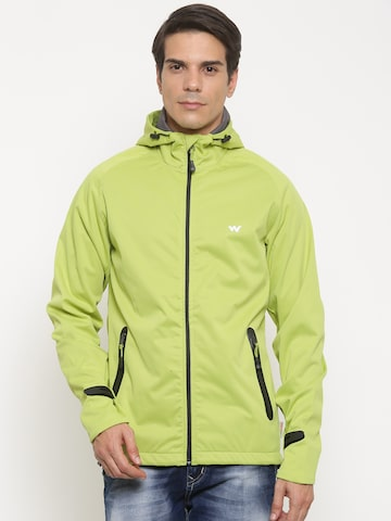 Wildcraft Men Green Solid Open Front Jacket at myntra