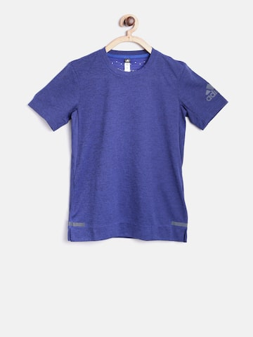 Adidas Boys Blue YB Chill Printed Round Neck T-shirt at myntra