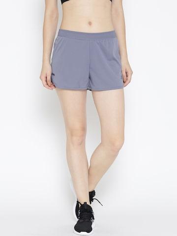 Adidas Women Purple CORECHILL Solid Sports Shorts Adidas Shorts at myntra