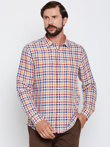 Blackberrys Men Multicoloured Smart Fit Checked Casual Shirt at myntra