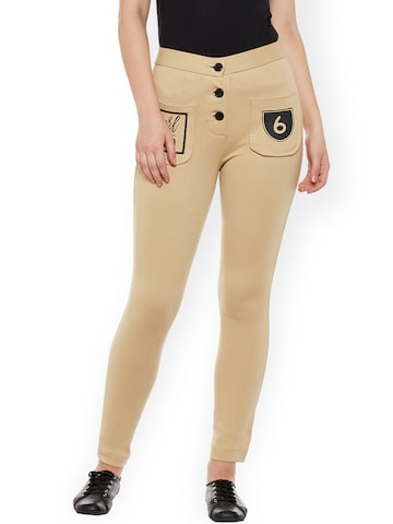 Rider Republic Women Beige Treggings at myntra