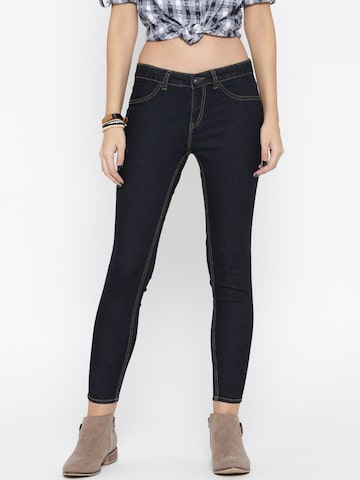 Roadster Navy Jeggings Roadster Jeggings at myntra
