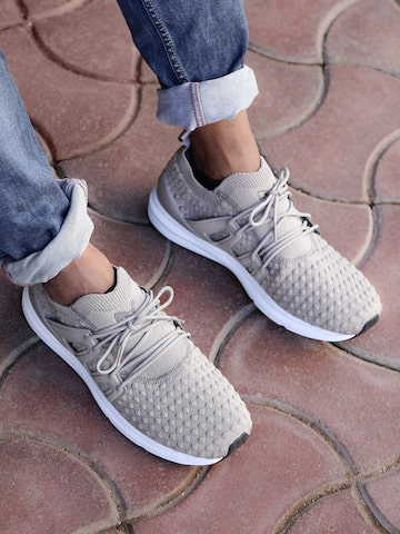 Puma Men Grey B.O.G Limitless Lo Bubble Knit Sneakers at myntra