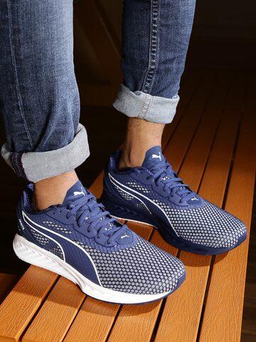 Puma Men Blue IGNITE 3 Running Shoes at myntra