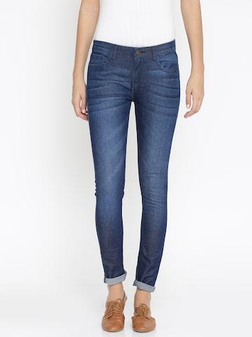 Jealous 21 Women Blue Hottie Ultra Slim Fit Mid-Rise Clean Look Stretchable Jeans Jealous 21 Jeans at myntra
