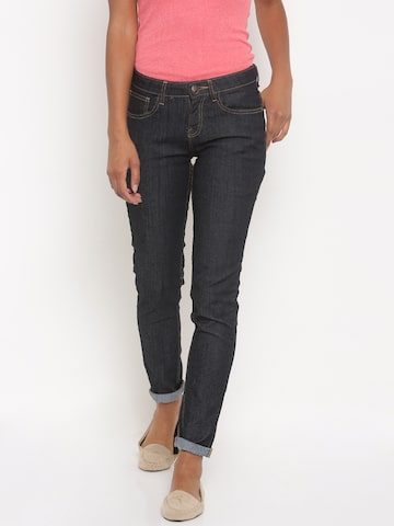 Jealous 21 Women Blue Bootilicious Fit Mid-Rise Clean Look Stretchable Jeans at myntra
