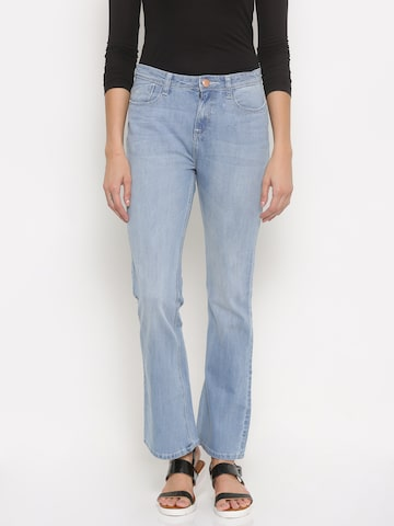 Jealous 21 Women Blue Hottie Flared Fit High-Rise Stretchable Jeans at myntra