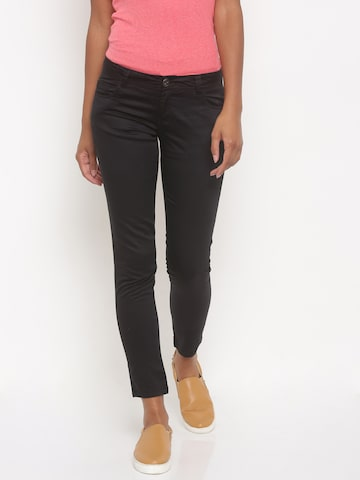 Jealous 21 Women Black Regular Fit Solid Regular Trousers at myntra