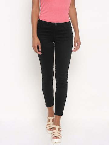 Jealous 21 Women Black Regular Fit Solid Stretchable Regular Trousers at myntra