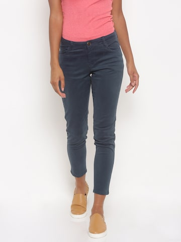 Jealous 21 Women Blue Regular Fit Solid Regular Trousers at myntra