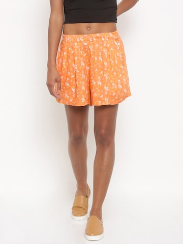 Jealous 21 Women Peach-Coloured Printed Regular Fit Regular Shorts at myntra