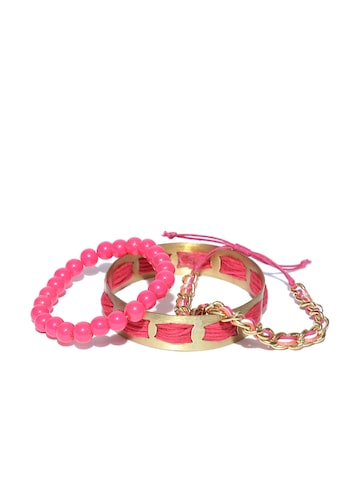 Blueberry Set of 2 Bracelets with Bangle at myntra