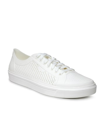 Crocs Women White Perforated Sneakers at myntra