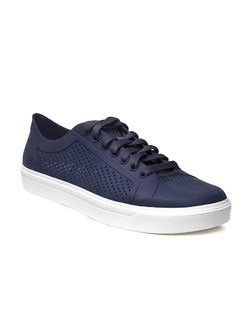 Crocs Women Blue Perforated Sneakers at myntra