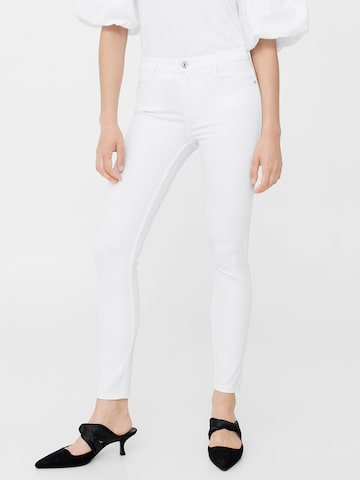 MANGO Women White Skinny Fit Mid-Rise Clean Look Stretchable Jeans MANGO Jeans at myntra