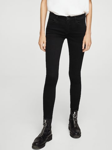 MANGO Women Black Skinny Fit Mid-Rise Clean Look Stretchable Jeans MANGO Jeans at myntra
