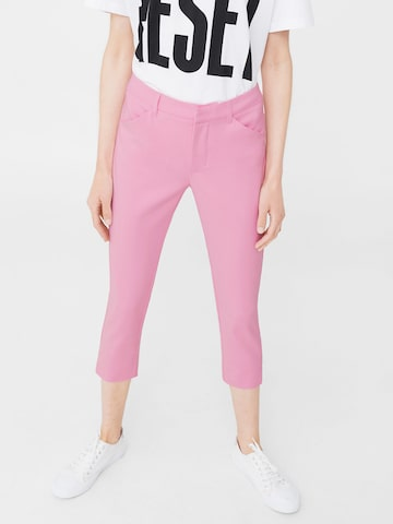 MANGO Women Pink Regular Fit 3/4th Trousers MANGO Trousers at myntra
