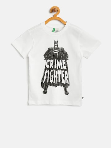 United Colors of Benetton Boys White Batman Print T-shirt at myntra