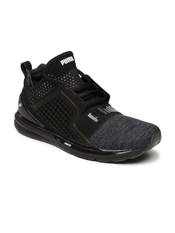 Puma Men Black IGNITE Limitless Mid-Top Sneakers at myntra